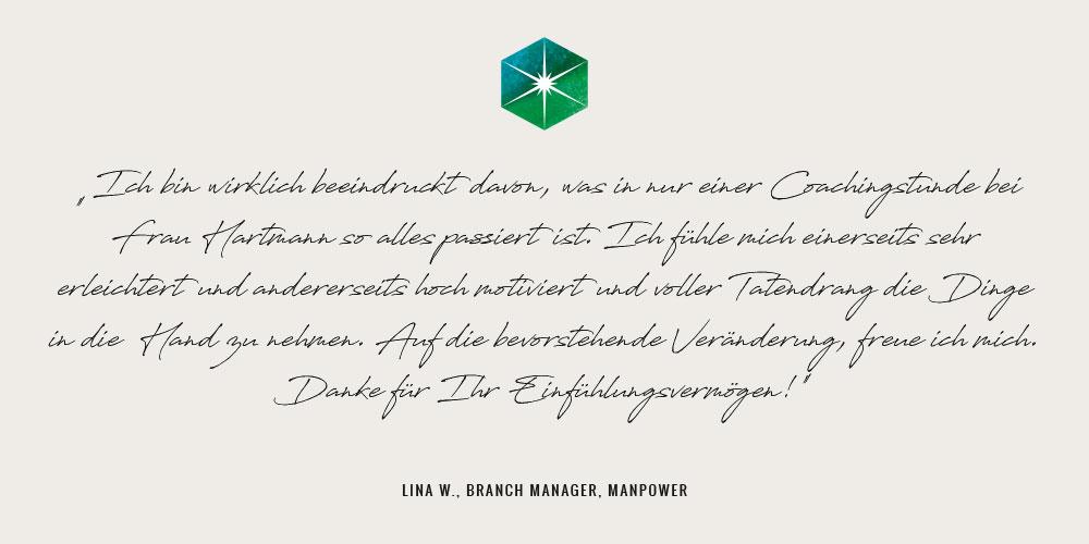 Zitat Lina W., Branch Manager, Manpower